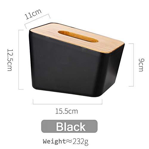 Grea Holz Tissue Box Container Handtuch Serviette Tissue Holder Abnehmbare Papierrollenhalter Fall für Office Home Dekoration Lagerung-Schwarz