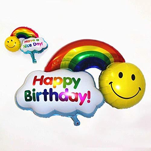 Guirnalda con globos, Happy Birthday, en dorado, plateado, oro rosa, azul y 8 colores más, para un cumpleaños