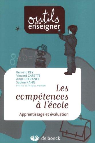 Les compétences à l'école : Apprentissage et évaluation