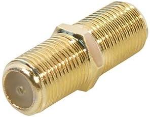 SAT F-Verbinder Buchse/Buchse, vergoldete Ausführung