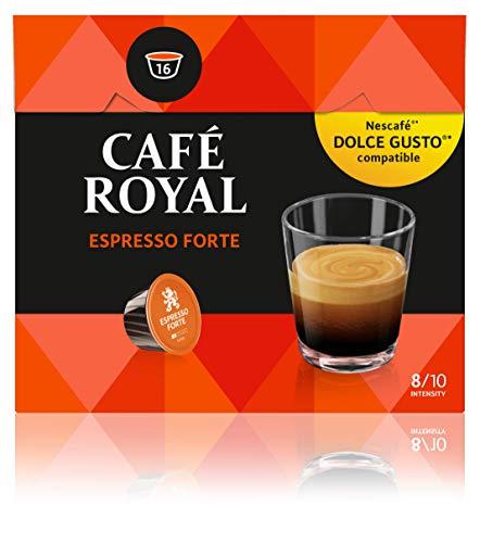 Café Royal Espresso Forte 48 Nescafé Dolce Gusto kompatible Kapseln (Intensität 8/10) 3er Pack (3 x 16 Kaffeekapseln) (Espresso Forte)