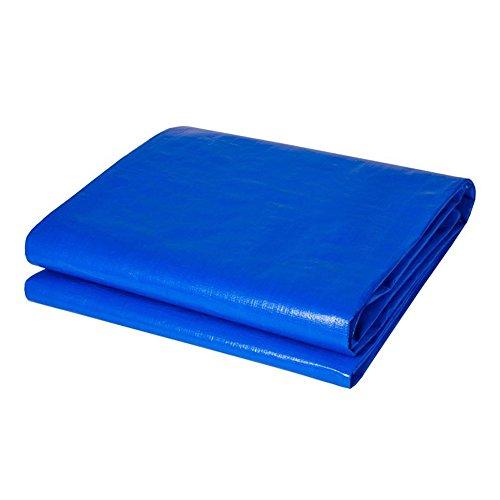 NAN Plane Abdeckung Heavy Duty Dickes Material, wasserdicht, ideal für Plane Zelt, Boot, RV oder Pool-Cover-0,35 mm 180 g/m² (Farbe : Blau, größe : 5 x 10m)