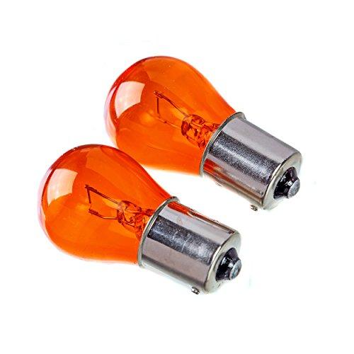 2x BAU15S PY21W 581 Amber Yellow Turn Signal Front Rear Indicator Flasher Light Bulbs