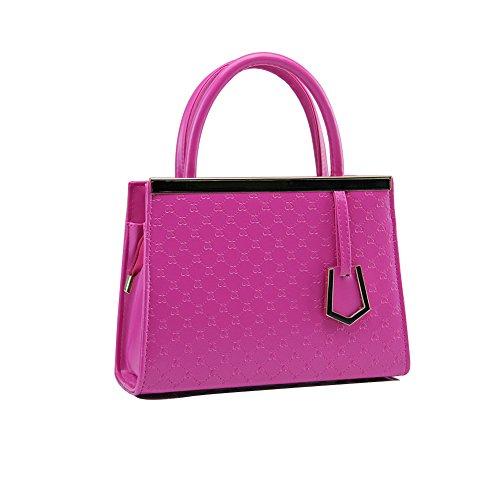 Xiaoxuan semplice Love Patten, in pelle PU, Summer Messager-Borsa da spalla per donna, Blu cielo (Cielo blu) - BG00009F Rose Purple