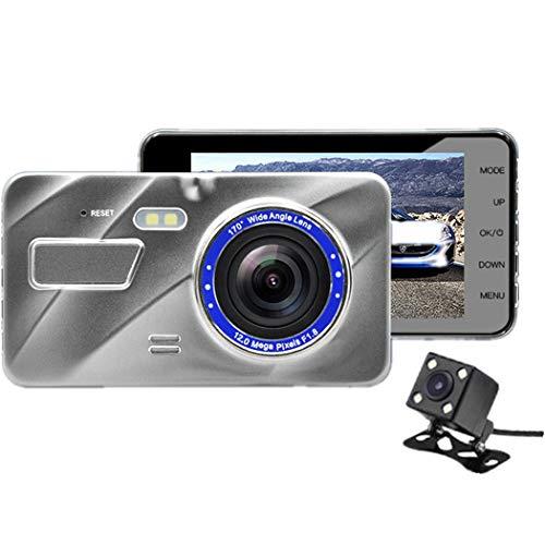 Unbekannt Dual Dash Cam Driving Recorder Hd 4,0 Zoll Dual Lens 1080P Versteckte Weitwinkel-Driving Recorder mit Loop-Aufnahme, G-Sensor und Bewegungserkennung