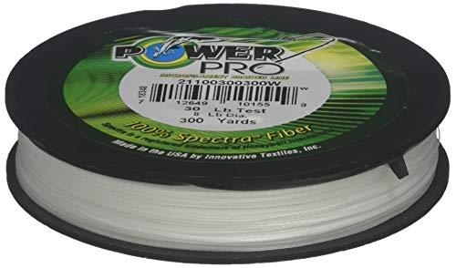 PowerPro 30-Pound 150-yard Geflochten Mikrofilamenten Angelschnur Weiß
