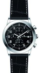 Ted Lapidus - 5126501 - Montre Homme - Quartz Analogique - Cadran - Bracelet Cuir Noir