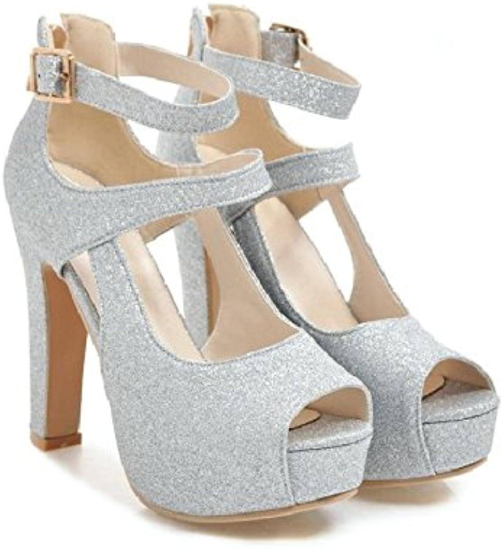 Felmini FM1-040 - Sandalias de Vestir de Piel Lisa para Mujer Dorado Dorado -