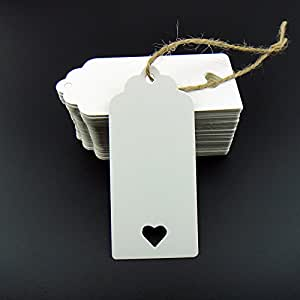 Amazon Wedding Gift Tags : Paper Tag Blank for Wedding Favour Cards,Gift Tag,DIY Tag,Luggage Tag ...