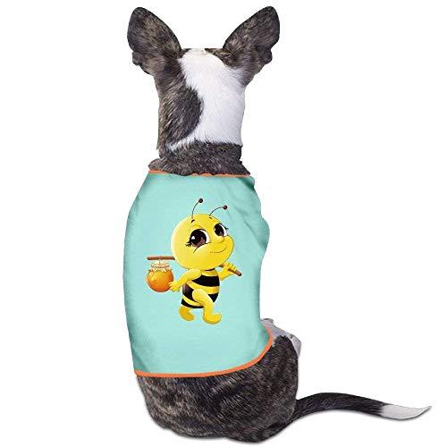 Honey Bee Kostüm - GSEGSEG Honey Bee Logo-Kostüm für Hunde und Katzen, aus Polyester