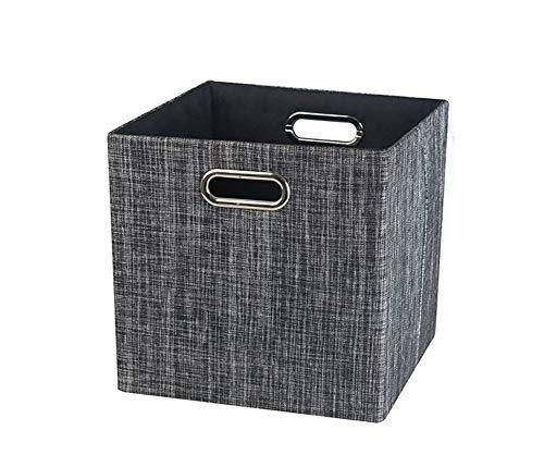 Sepsg Aufbewahrungskorb Faltbarer Aufbewahrungsbox Cotton Cube mit Griff für Kleidung, Bücher und Spielzeug,Dark-Gray