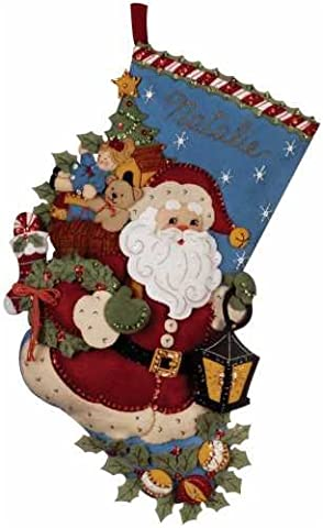 Bucilla Christmas Joy Stocking Felt Applique Kit