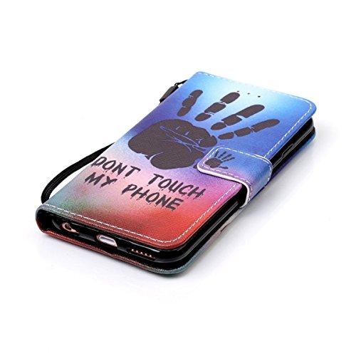 iPhone 6 Hülle, iPhone 6S Hülle, Gift_Source [ Wolf ] Stand Hülle Etui with Karte Halterung Leder Wallet Klapphülle Flip Book Case TPU Cover Bumper Tasche Ultra Slim für Apple iPhone 6s/6 E1-Hand