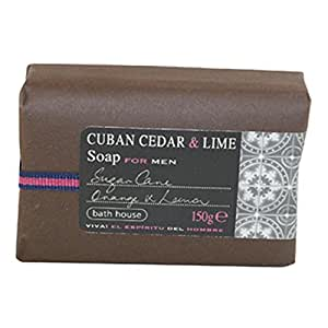 Bath House - Cuban Cedar & Lime - Wash Bar 150g - Latin, Warm & Sultry