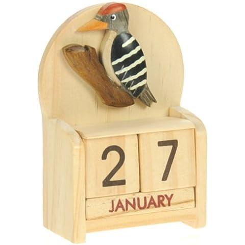 Giardino degli uccelli : legno calendario perpetuo: tradizionale a mano Idee Regalo di Natale: Dimensioni (Finito Giardino)
