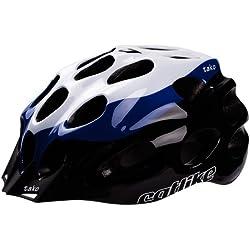 Catlike Tako - Casco de ciclismo, color blanco/azul/negro brillo, talla MD (54-57 cm)