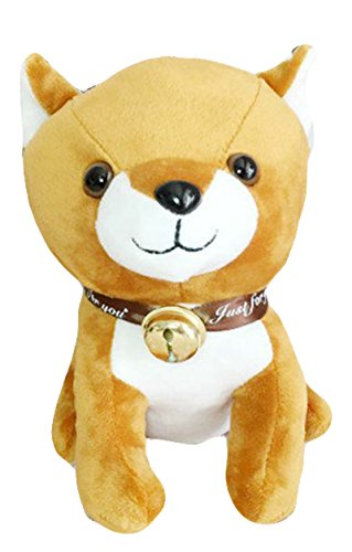Good Night Jouet en peluche petit chien avec Bell, grand cadeau pour Noël