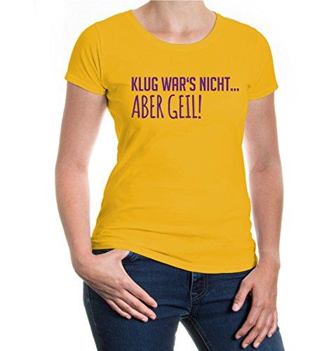 buXsbaum® Girlie T-Shirt Klug wars nicht aber Geil Sunflower-Purple