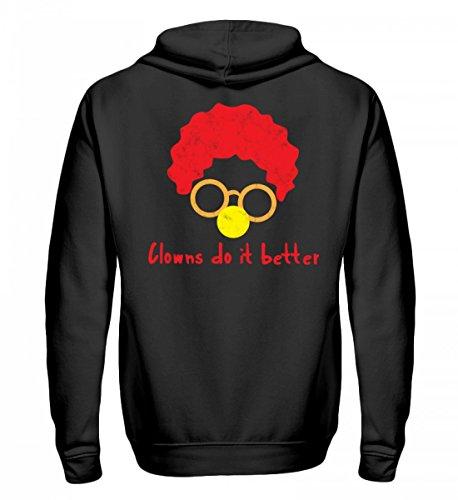 rtiger Zip-Hoodie - Clown - Zirkus - Geschenk - Karneval - Kostüm - Circus - Gift: Clowns Do It Better (Karneval Kostüm Ideen Für Hunde)