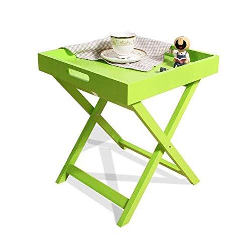 LXDDB Tische Ende Couch Seite Kaffee Serviertablett Halter Frühstück MDF Griff (Farbe: Grün) - Grüner-kaffee-tisch