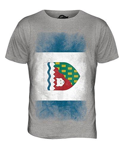 CandyMix Nordwest-Territorien Verblichen Flagge Herren T Shirt Grau Meliert