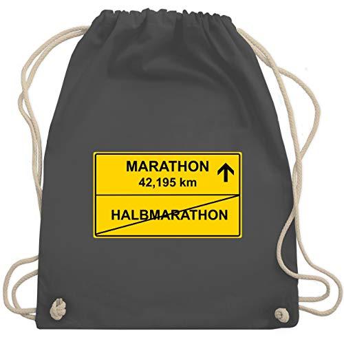 Laufsport - Marathon - Unisize - Dunkelgrau - WM110 - Turnbeutel & Gym Bag (Marathon Kordelzug)