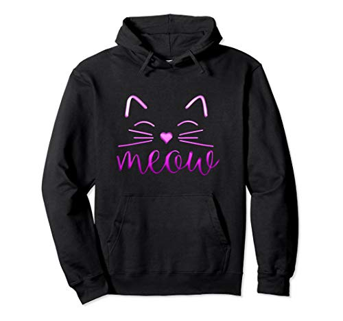 Kostüm Crazy Halloween Lady Cat - Meow Niedliches Katzengesicht Lustiges Kostüm Pullover Hoodie