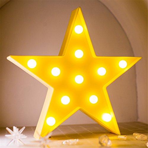 Sterne Nachtlicht Kinder, Nachttisch SüßE Nachttischlampe Children Night Light Deko Kinder MäDchen Babytisch Spielzeug Schlafzimmer Led-Nachtlicht für Babys Cartoon Orientierungslicht Einschlafhilfe (Gelb)