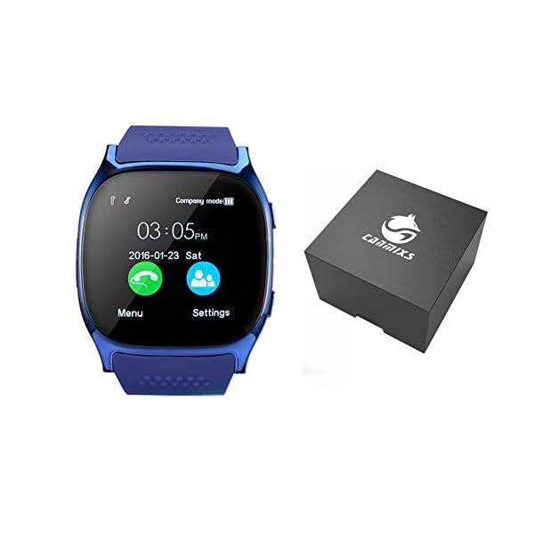 CanMixs Smartwatch CF02 es compatible con la tarjeta SIM Reloj de pulsera TF con cámara Podómetro Sleep Monitor Message Sync notifica el reproductor de música sedentaria para el teléfono Android IOS 3