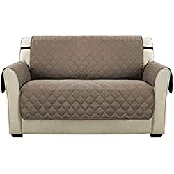 PengXiang Haustier-Sofa-Schonbezug, rutschfest, wendbar, für Sofa-Möbel, Polyester, beige, Loveseat