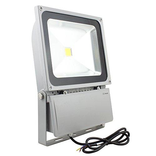 vingo 100w led fluter strahler scheinwerfer spotlight wasserdicht au enbereich ip65 kaltwei. Black Bedroom Furniture Sets. Home Design Ideas