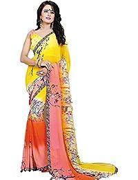 Aarohi Women's Georgette Saree_Multi