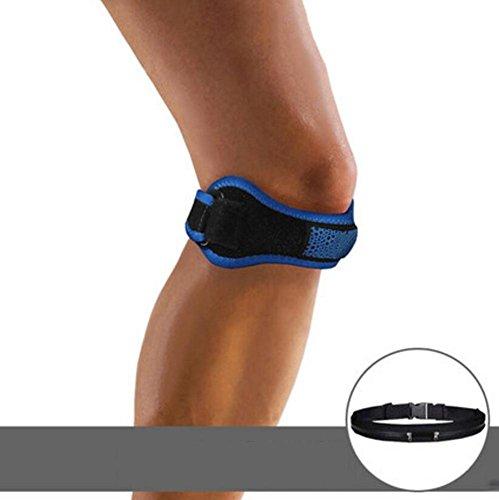 OOFWY Patellar Gürtel, Knie Brace Atmungsaktive Patella Sehne Knie Stützband Verstellbare Knie Schmerzen Relief mit Silikon Pads für Laufen, Jumper Knie, Tennis, Basketball 1pc, Blue - Sehne Pad
