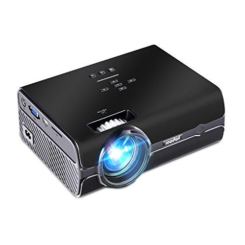 Beamer Roadwi LED Projector Portable Projektor Unterstützung 1080P HDMI AV VGA USB SD TV für Multimedia Heimkino Spiele Film Nacht Party Reise