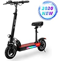 Electric Scooter, KUGOO M4 Folding E Scooter for Adult, 500W Motor, 3 Speed Modes Up to 45km/h, LCD Display, Maximum Load 150kg, 10 Inch Pneumatic Tire, Dual Brake, Front LED Light Warning Taillight