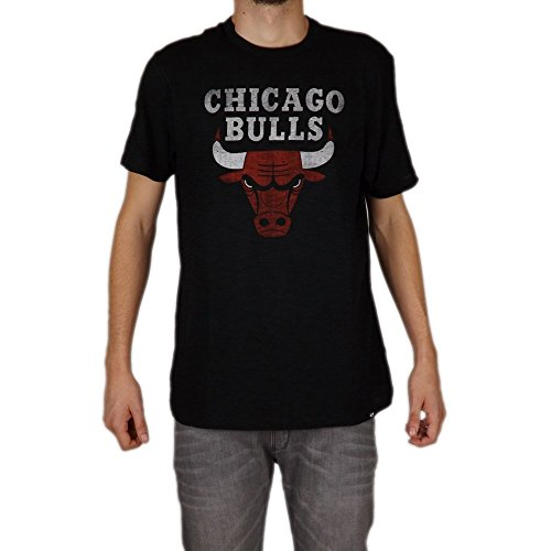 47 Brand SCRUM Slim Shirt - NBA Chicago Bulls schwarz - L (47 Shirt)