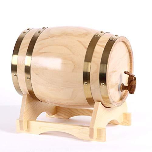 CUPWING Almacenamiento de Whisky Vino barrica de Roble Barril De Vino, Barricas De Roble De Cubas, Barriles De Vino Tinto Seco 3L5L10L20L Puede almacenar Vino, Vino Blanco, Brandy, Whisky y