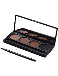 4 Couleurs durables Waterproof Fard à Paupières Eye Shadow Palette de Maquillage sourcil Biying Maquillage fard à Paupières Brosse