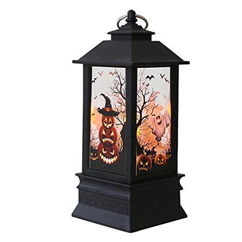 BeiYuSdBb Hexenkürbis Hand Halloween Lampe LED Nachtlicht Festival Dekor Requisiten Antike Laterne 1# -