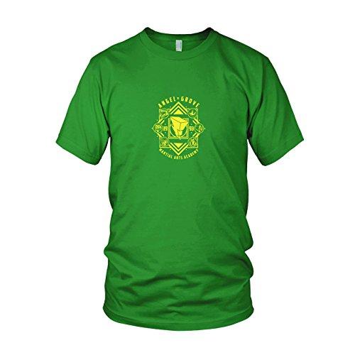 Angel Grove Academy - Herren T-Shirt, Größe: M, Farbe: grün (Grüne Power Ranger Samurai Kostüm)