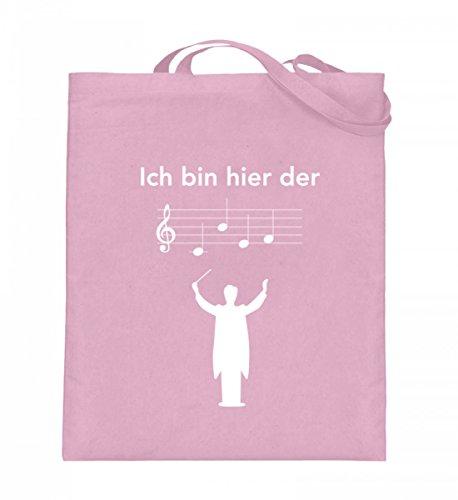 Hochwertiger Jutebeutel (mit langen Henkeln) - Perfekt für jeden Dirigenten! Hellrosa