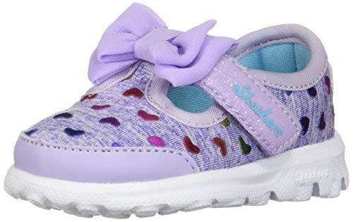 Skechers Baby Mädchen Go Walk Sneaker, Mehrfarbig (Lavender/Multicolour), 21 EU (Bitty Baby Schuhe)