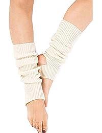 Zomiee - Calcetines de Yoga para Mujer y niña, Calcetines de Entrenamiento sin Dedos, Beige