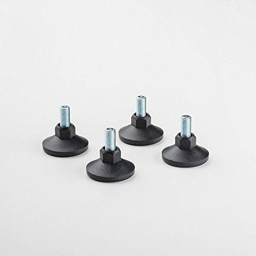 Swissmobilia Set (4 Stück) Nivellierfuß für USM Haller, schwarz