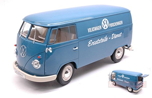 WELLY WE18053TDB VW T1 BUS 1963 PANEL VAN VOLKSWAGEN PORSCHEWAGEN 1:18 MODEL (Volkswagen T1 Panel-bus)