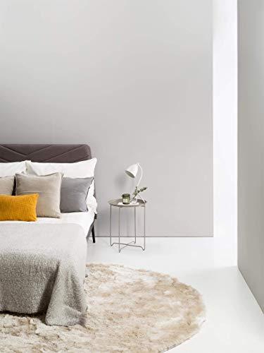 benuta Shaggy Hochflor Teppich Whisper Beige ø 160 cm rund | Langflor Teppich für Schlafzimmer und Wohnzimmer