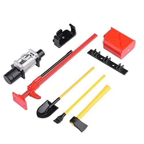 Dilwe RC Dekorations Werkzeug, 6 Sätze RC Crawler Zubehör für 1:10 RC Rock Crawler 4WD D90 D110 SCX10 - 1 6 Zubehör