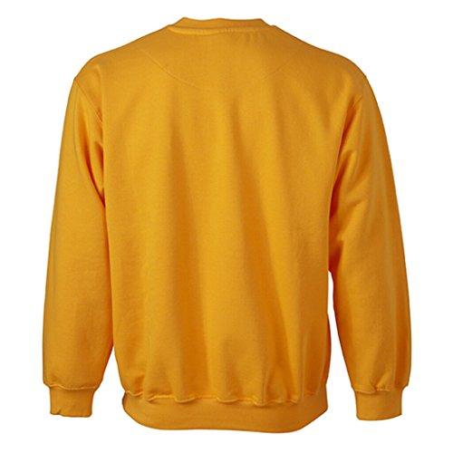 JAMES & NICHOLSON Felpa comfort classica con collo rotondo gold-yellow