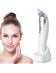 Maxus Mitesser Entferner - Elektrisch Poren Reiniger mit 1 spiegel Wiederaufladbare Vakuum Sauger Blackhead Remover Gesichtsreinigung Werkzeug für Akne und Mitesser entfernen