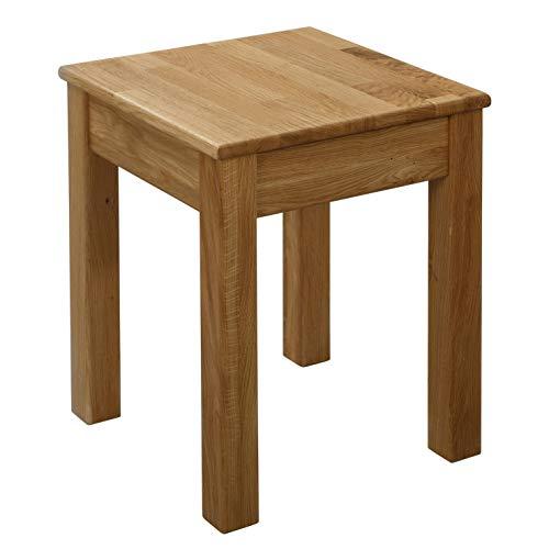 Krokwood 1 x Esszimmer Stuhl ohne Eingriff Massivholz Eiche FSC 100% Tomas 35x35x45 cm Hocker